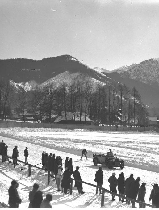 Zawody skijöringowe w Zakopanem, 1930r. (źródło: NAC)