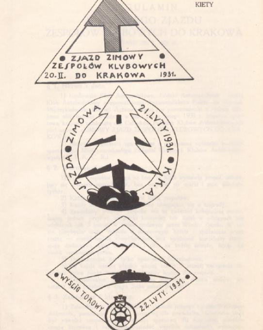 Plakiety Imprez Zimowych 1931r. (źródło: POLONA)